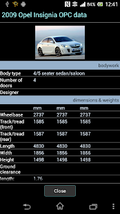 Car Specifications- screenshot thumbnail