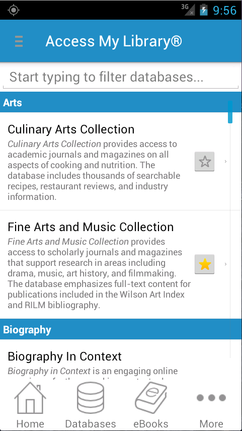 Access My Library®- screenshot