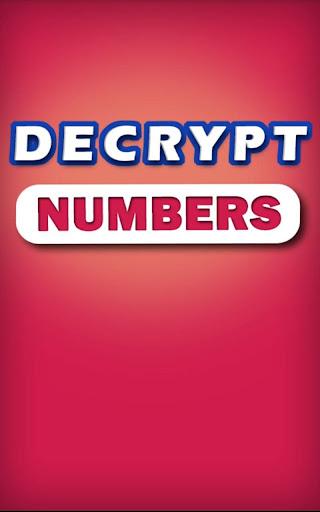 Decrypt Numbers