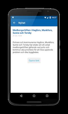 Polisens RSS - screenshot