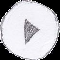 Poweramp Sketch Skin icon