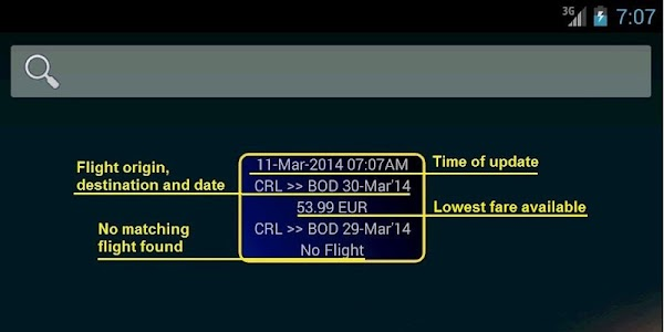 Ryan Flight Fare Watch screenshot 11