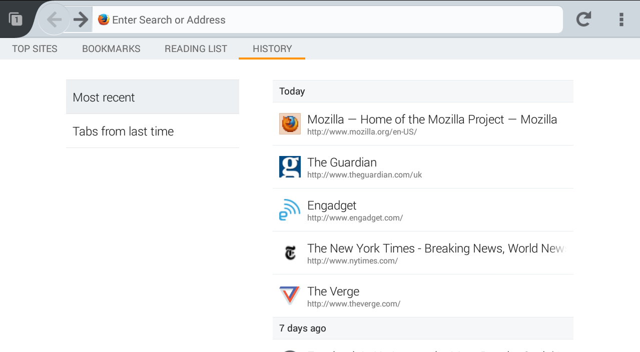 Firefox Beta - screenshot