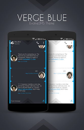 EvolveSMS Theme - Verge Blue