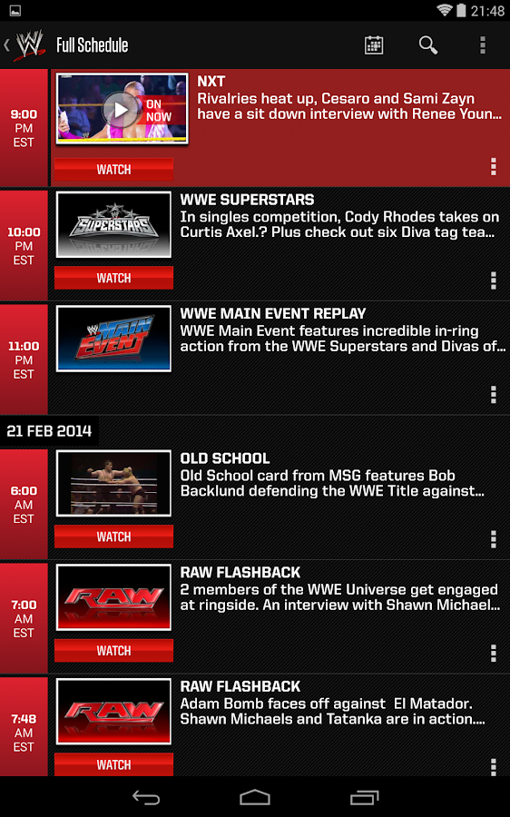 WWE - screenshot