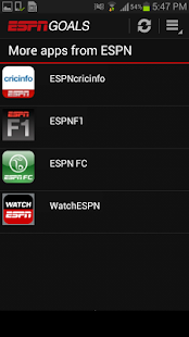 ESPN Goals - screenshot thumbnail