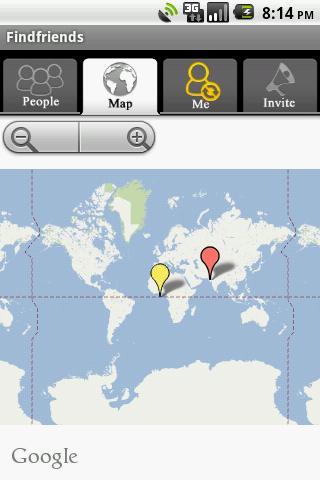 Find Friends - screenshot