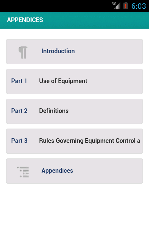 Equipment Rules of Sailing - screenshot