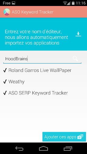 ASO SERP Keyword Tracker