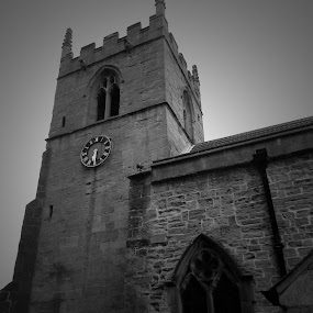 Church Face by Mick Greaves - Buildings & Architecture Places of Worship ( church, black and white, worship,  )