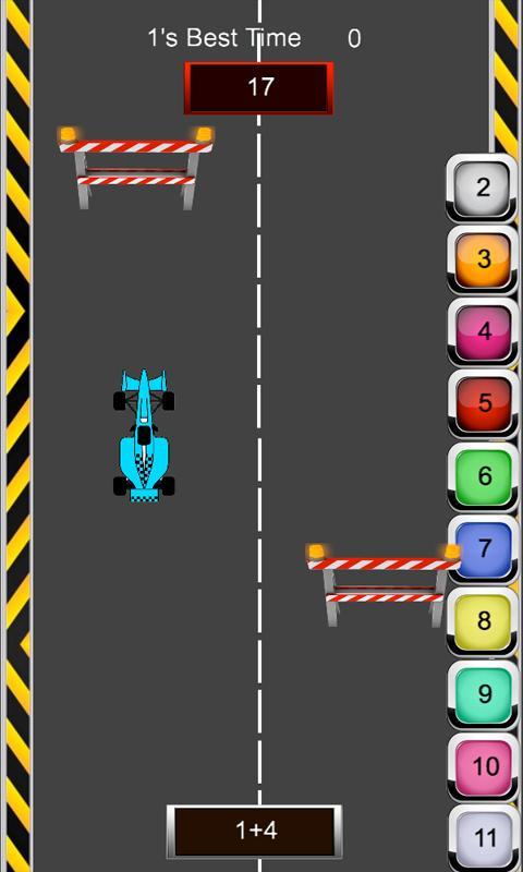 Math Racer Addition - Tablet- screenshot