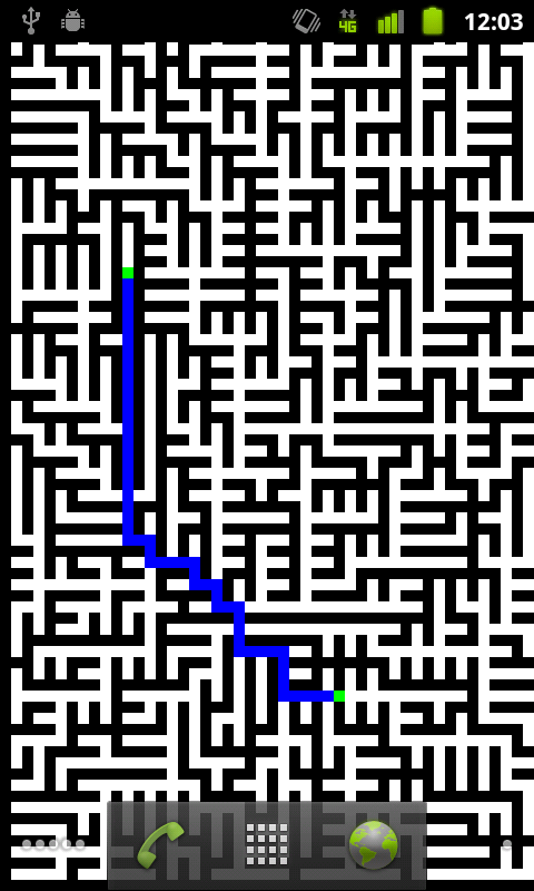 Prim Dijkstra Maze Wallpaper- screenshot