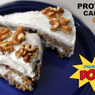 Protein Carrot Cake with a Vanilla Protein Frosting (Gluten & Egg Free) Recipe