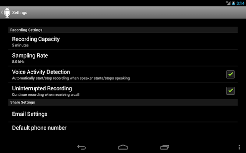 Dictadroid Lite Voice Recorder - screenshot thumbnail