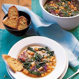 Kale, White Bean, and Sweet Potato Soup.