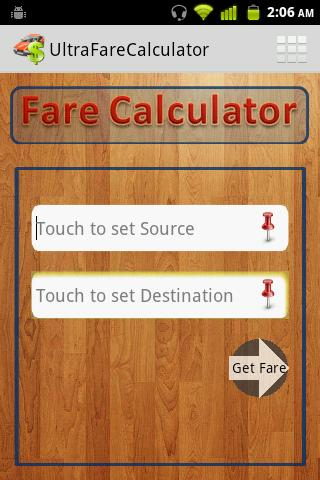 Taxi Fare Calculator- screenshot
