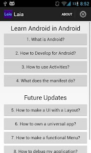 LAIA: Learn Android in Android - screenshot thumbnail