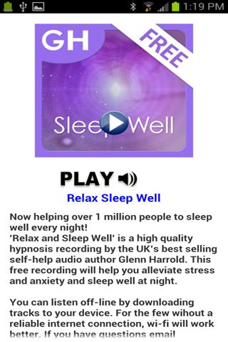 Relax & Sleep by Glenn Harrold - screenshot