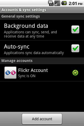 Flickr Sync - screenshot