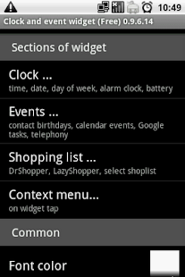 Clock and event widget (Free) - screenshot thumbnail