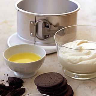 No-Bake Chocolate-Crust Cheesecake