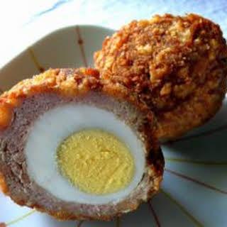 Scotch Egged Turkey Meat Balls.