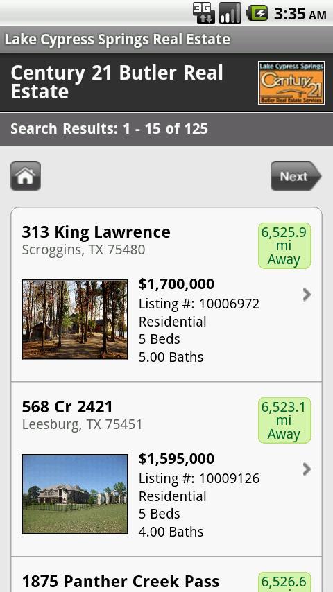Lake Cypress Springs Real Esta- screenshot
