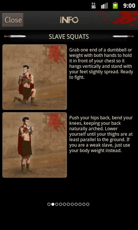 Spartacus Workout - screenshot
