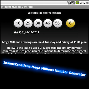 Mega Millions Lotto Generator icon
