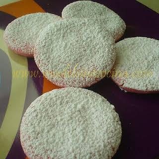 Pink Shortbread Cookies.