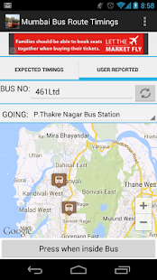Mumbai BEST Bus Route Timings - screenshot thumbnail