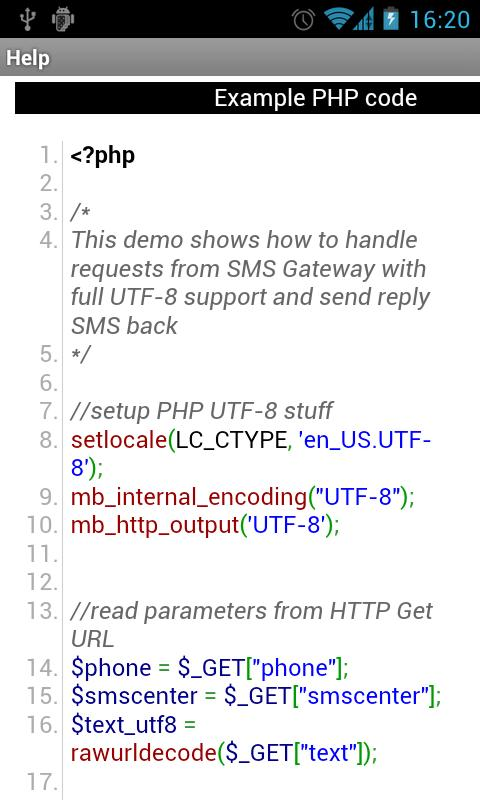 SMS Gateway - screenshot