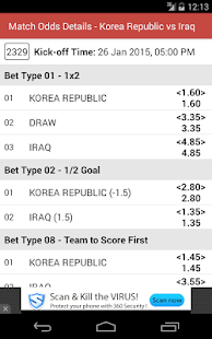 Singapore Football Odds- screenshot thumbnail