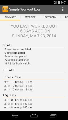 Simple Workout Log PRO Key