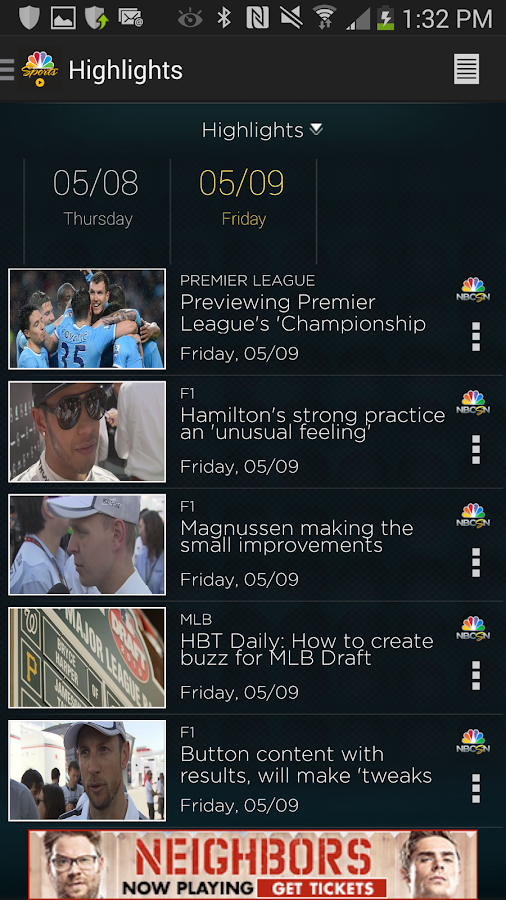 NBC Sports Live Extra - screenshot