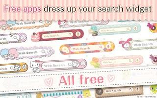 Screenshot of kawaii search widget DRESSAPPS