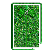 Glitter Bow Zipper Screen Lock