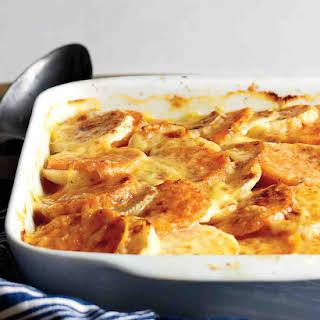 Turnip and Sweet Potato Gratin.