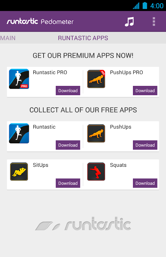 Runtastic Pedometer PRO- screenshot