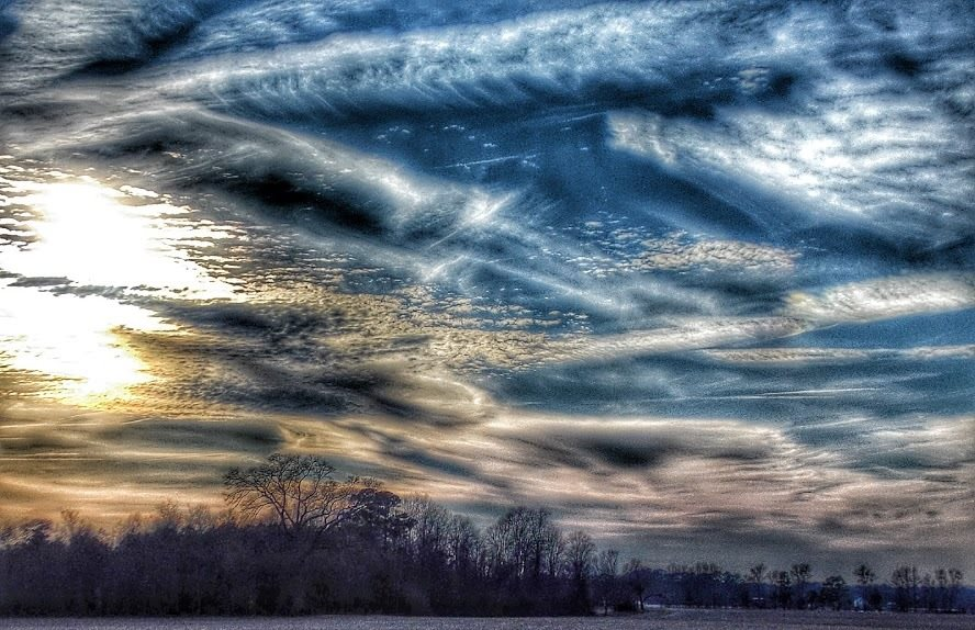 sky by Becky Quarles - Digital Art Abstract