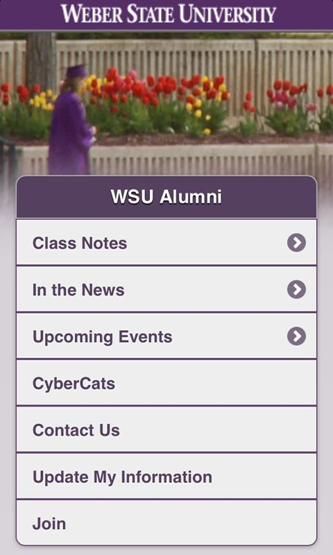 Weber State Alumni - screenshot