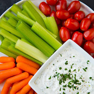 Lighter Greek Yogurt Ranch Dip.