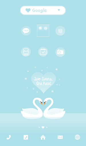 twoswans one heart dodol theme