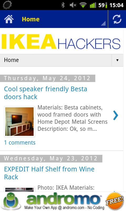 IKEA Hacks - screenshot