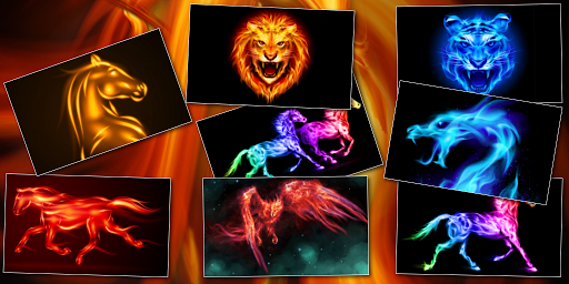 Flame animals live wallpaper