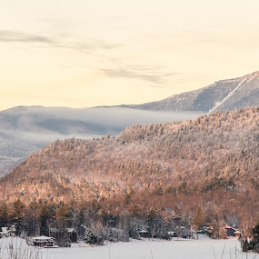 Whiteface Sunset by Kim Verstringhe - Landscapes Mountains & Hills ( ski, whiteface, winter, adirondacks, lake placid )
