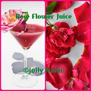 Rose Petal Drink Recipes.