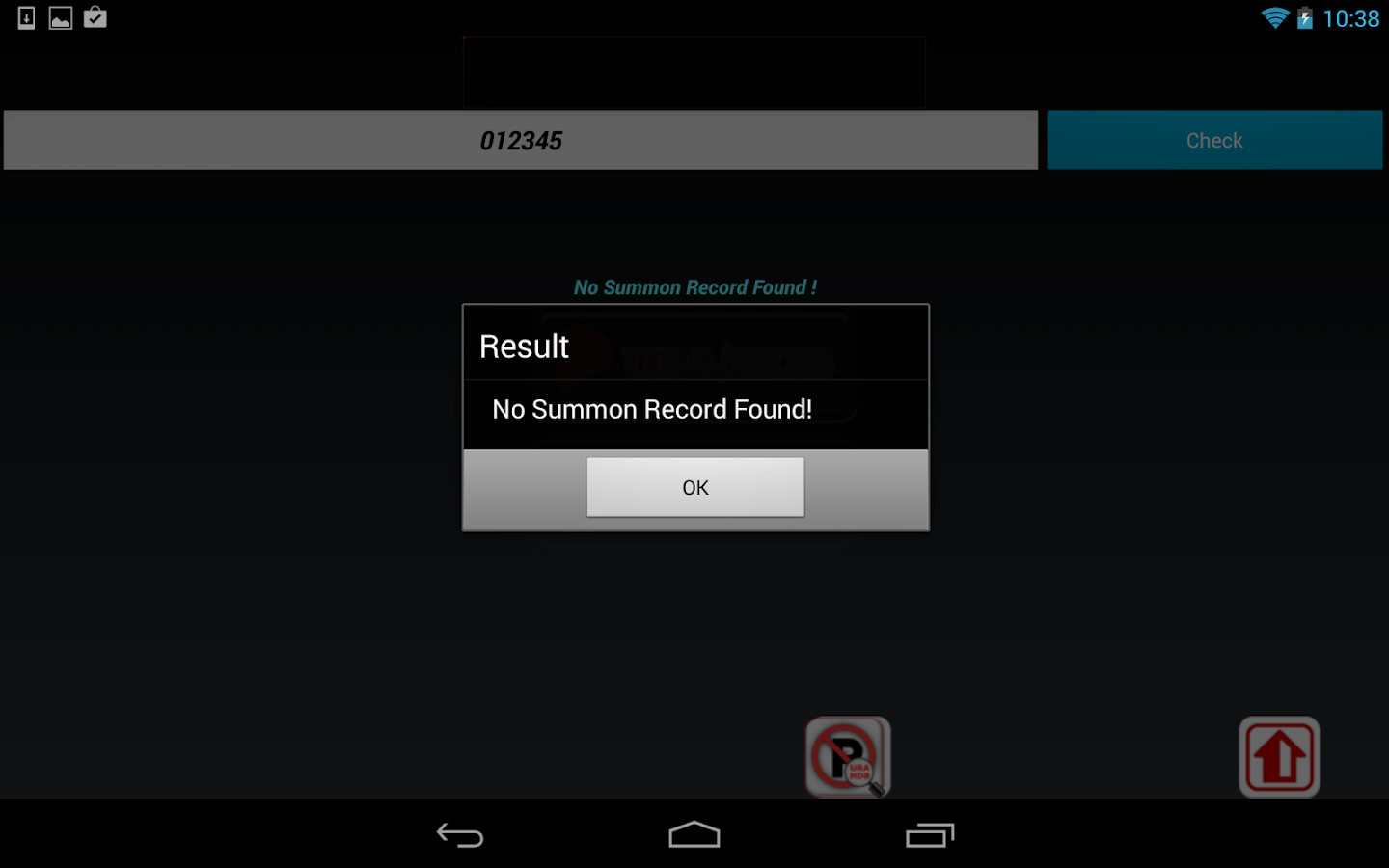 Singapore Parking Summons - screenshot