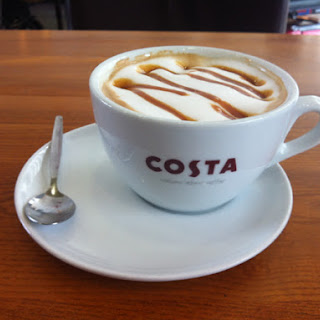 Hot Caramel Coffee.