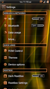 Laser Orange CM11 Theme Free - screenshot thumbnail